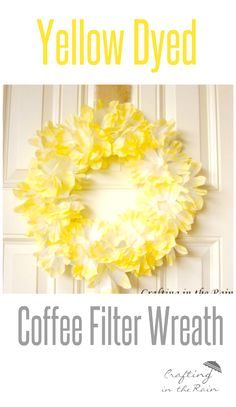 Coffee Filter Wreath, Coffee Filter Crafts, Coffee Filter Flowers, Coffee Filters, March Crafts, Summer Crafts, Wreath Crafts, Flower Crafts, Tulle Crafts