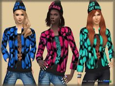 Set Bad Day by bukovka at TSR via Sims 4 Updates Sims 4 Clothing, Female Clothing, Sims 4 Update, Sims Community, Sims Resource, Jackets For Women, Clothes For Women, Sims 4 Custom Content, Sims 3