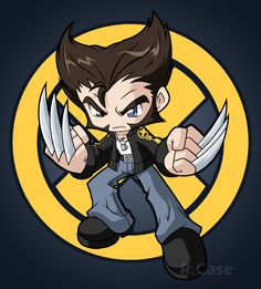"""I saw """"X-men Origins: Wolverine"""" last night and then started on this after i got back. Ive actually thought of drawing him all chibi like for awhile now. Lets go bub Marvel Wolverine, Marvel Dc Comics, Chibi Marvel, Marvel Vs, Avengers Cartoon, Posca Art, Marvel Drawings, Comic Games, Comics Universe"""