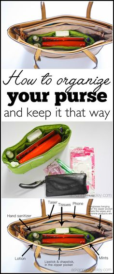 I'm sharing a few quick tips for how to clean out and organize your purse so you can always find what you need, when you need it.