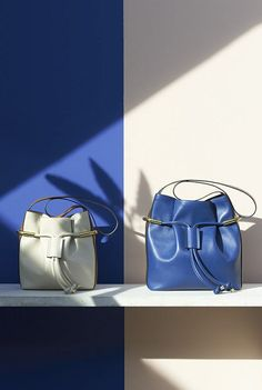 Accessory, Bags, Two Tone, Opposites, Split, Blue and Cream, Shadow, Geometric shapes, Leaves