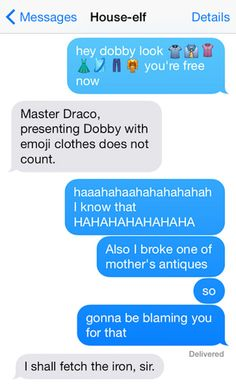 This Is What Texting Between Harry Potter Characters Would Look Like 7 - https://www.facebook.com/diplyofficial