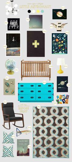 astronaut baby nursery inspiration