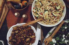 Harvest Time Dinner Party in a Vintage Furniture Store | styling by @honeycincinnati | #cincinnatiwedding #honeyevents #party