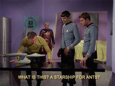 Star Trek: TOS meets Zoolander.