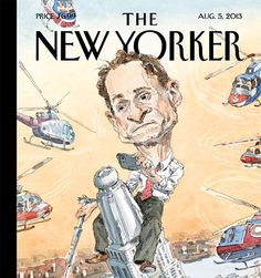 Cover Story: Anthony Weiner as Carlos Danger, by John Cuneo via the New Yorker