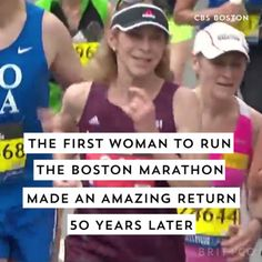 Watch this video to learn more about the first woman to run the Boston Marathon, Kathrine Switzer, in 1967 and returned to run it again 50 years later in 2017.