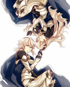 Male and Female Kamui (or Corrin in the English version). Fire Emblem:If/Fates