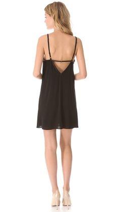 800b467e53bf3 alice + olivia Low Back Dress with Leather Trim