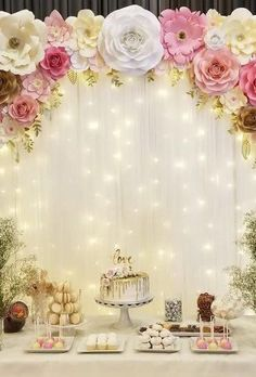 Most Pinned Wedding Backdrop Ideas 2019 ★ wedding backdrop ideas soft light backdrop madebyjesslee Quince Decorations, Bridal Shower Decorations, Wedding Decorations, Wedding Backdrops, Unique Bridal Shower, Quinceanera Party, Forest Wedding, Wedding Vows, Wedding Tables