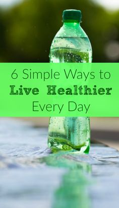 Here are 6 simple things even the busiest wife or mom can do to live a little bit healthier every day. Healthy living | Healthy eating | Exercise | Sleep