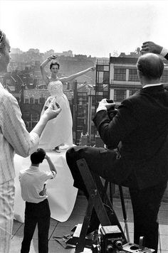 Fashion shoot with photographer Claude Virgin, photo by Brian Duffy, 1961