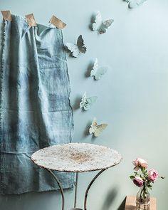 Vintage Wallpaper Butterflies - http://www.sweetpaulmag.com/crafts/vintage-wallpaper-butterflies #sweetpaul