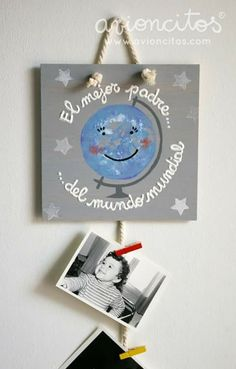 Dia del padre Fathers Day Crafts, Happy Fathers Day, Gifts For Father, Diy And Crafts, Crafts For Kids, Father's Day Diy, Dad Day, Frame Crafts, Grandpa Gifts