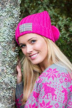 Barfota Love Norway strikket lue, rosa