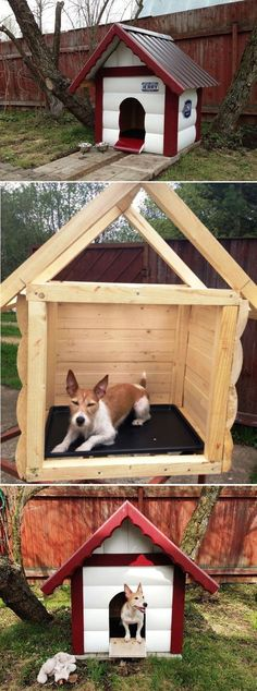 DIY Dog House      -------   this would also be great for the neighborhood stray cats