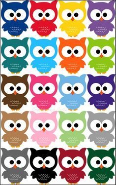 So many colors to choose… Owl Crafts, Diy And Crafts, Crafts For Kids, Paper Crafts, Owl Theme Classroom, Classroom Teacher, Kindergarten Classroom, Classroom Ideas, Owl Patterns