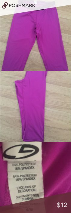 C9 Power Core Workout Capris EUC - barely worn!  Bright magenta C9 power core fitted capris.  Awesome for working out or wearing casually.  Medium C9 Pants Capris