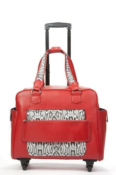 e6078d38ab3a Hang Accessories Caiman Red   White Reptile Rolling Trolley Bag Caimaninae