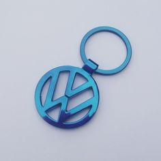 VW Emblem Keychain keyring Metal Blue Black Gold Tone Volkswagen Gift by AutoArtMike on Etsy https://www.etsy.com/listing/177872013/vw-emblem-keychain-keyring-metal-blue