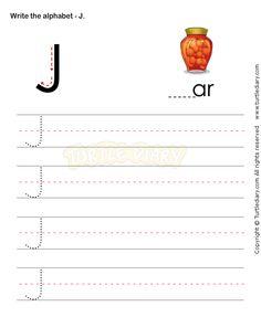 Capital Letters J - esl-efl Worksheets - preschool Worksheets