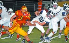 A broken tackle gives Aptos runner Aaron McAnerney momentum for this gain on Friday, Sept. 7, 2012, when host Oakdale won 21-0 in Oakdale, Calif. (Photo by Ike Dodson/Contributed). Read the story here: www.santacruzsentinel.com/aptos/ci_21496695