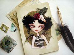Countess Nocturne Gothic 4 x 6 Postcard by sandragrafik on Etsy, $2.50