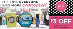 $3 off anything you want - use code poshboom  www.pamperwithposh.com