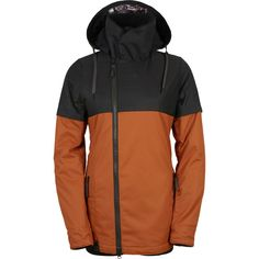 686 - Parklan Immortal Insulated Jacket - Women's - Cognac Colorblock