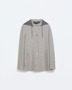 Image 6 of JACKET WITH CONTRAST HOOD from Zara