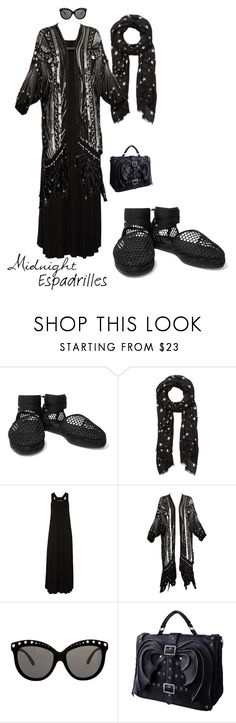 """Outfit 500 Midnight Espadrilles"" by chicagomuslima ❤ liked on Polyvore featuring Castañer, Witchery, Enza Costa, Italia Independent, goth, espadrilles, cityfashion, outfitsfortravel and maxifashion"