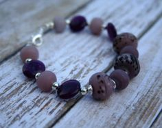 Purple Orchid- Beaded Bracelet. Purple Jewelry. Purple Beaded Bracelet. Silver Jewelry. Purple Aventurine Bracelet. Lampwork Bracelet. - Edit Listing - Etsy