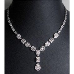 18k ladies Diamond Necklace - N0144 $12,354.00
