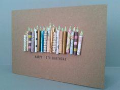 18. Kerze Geburtstagskarte kann personalisiert. von GurdGifts