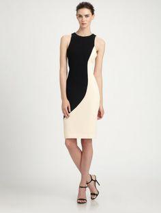 rachel roy cut back dress   Rachel Roy Sculpted Dress in (black) - Lyst