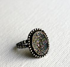 Champagne Drusy Ring Handmade Sterling by RachelPfefferDesigns, $108.00