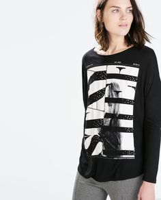 Image 2 of PRINTED T-SHIRT from Zara Girls Tees, Shirts For Girls, Street Outfit, Perfect Woman, Girl Fashion, Shirt Designs, Girl Outfits, T Shirt, Athletic