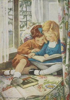 Jessie Willcox Smith trained to be a teacher and taught kindergarten in 1883, but found that the physical demands of working with children were too strenuous for her. Due to back problems, she had difficulty bending down to their level. Persuaded to attend one of her friend or cousin's art classes, Smith realized she had a talent for drawing. British Library Prints