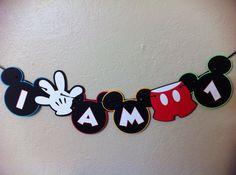 Silla alta bandera de DIY-Mickey Mouse