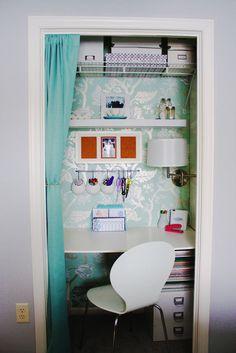 Small closet office.
