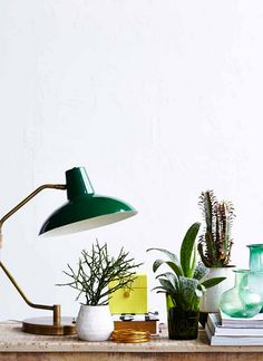 Desk table lamp from House Doctor by House Doctor House Doctor, Green Desk, Green Lamp, Home Furniture, Furniture Design, Desk Lamp, Table Lamp, Lampe Decoration, Interior And Exterior
