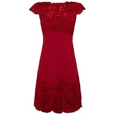 Red Lace Dress ❤ liked on Polyvore featuring dresses, lacy dress, red dress, red cocktail dress, red lace dress and lacy red dress