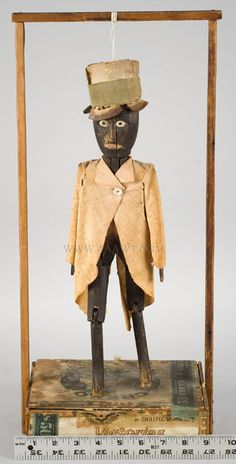 Antique Black Folk Art Figure, 19th Century...