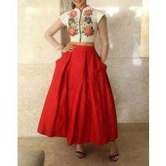 Silk Floral Print Designer Lehenga.