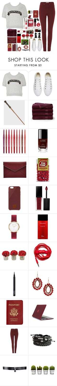 """""""Harry Potter"""" by milkshakes-and-dogs ❤ liked on Polyvore featuring Converse, Brooks Brothers, Smashbox, Chanel, Rebecca Minkoff, Native Union, Abbott Lyon, Leica, Christian Dior and The French Bee"""