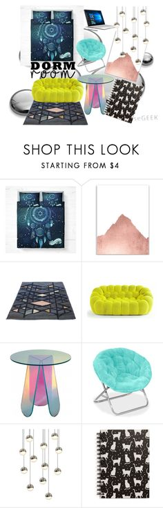 """~my dorm room decor~"" by midnight-shadow-kiss ❤ liked on Polyvore featuring interior, interiors, interior design, home, home decor, interior decorating, Microsoft, Sonneman, Tri-coastal Design and dormroomstyle"