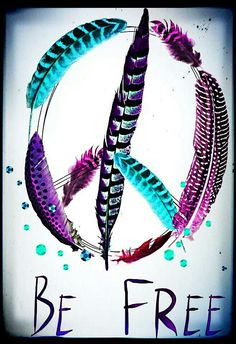 ☮ American Hippie Art ~ Peace Sign .. Be Free