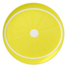 Yellow Lemon Plate