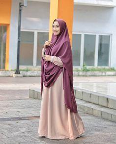 Image may contain: 1 person, standing and closeup Hijab Gown, Hijab Outfit, Abaya Designs, Islamic Clothing, Abaya Fashion, Mode Hijab, Gowns, Hijabs, Hana