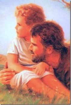 Young Jesus with His earthly father Joseph Spiritual Pictures, Religious Pictures, Jesus Pictures, Catholic Art, Catholic Saints, Religious Art, Jesus Mary And Joseph, St Joseph, Dynamic Catholic